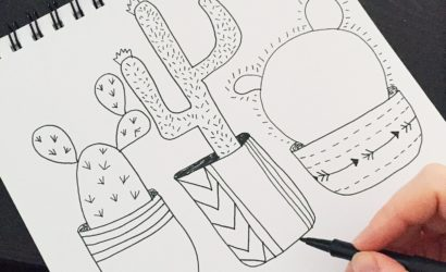 Cactus Line Drawing